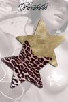 Nippies étoile Domenico - Set de 2 paires de Nippies assortis léopard et doré, des cache-tétons tendance pour un décolleté sexy sans retenue.