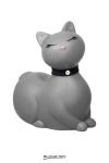 I Rub My Kitty Travel - gris - Après le canard mondialement connu, Big Tease Toys nous présente le chat, coloris gris!