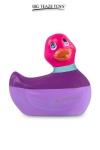 Mini canard vibrant Colors rose - Déclinaison à tête rose du célèbre canard vibrant dans la collection