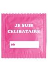 Préservatif humour - Je Suis Célibataire Rose - Préservatif