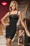 Robe moulante Amazing - Une robe sexy double effet : une silhouette de vamp ultra provocante devant, et un dos totalement offert sous la résille florale. Pour celles qui aiment séduire, avec style !